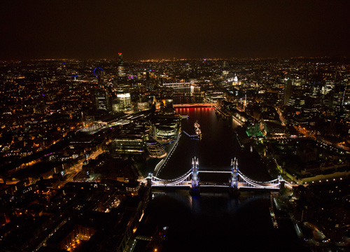 """All That Glitters is LED: London's Tower Bridge Dons New """"Diamond"""" Coat for Queen's Jubilee 0"""