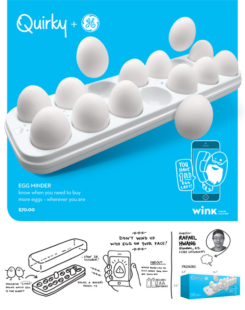 Eggs Over WiFi: Wink, GE and Quirky App-Enabled Product Line, Has Hatched 0