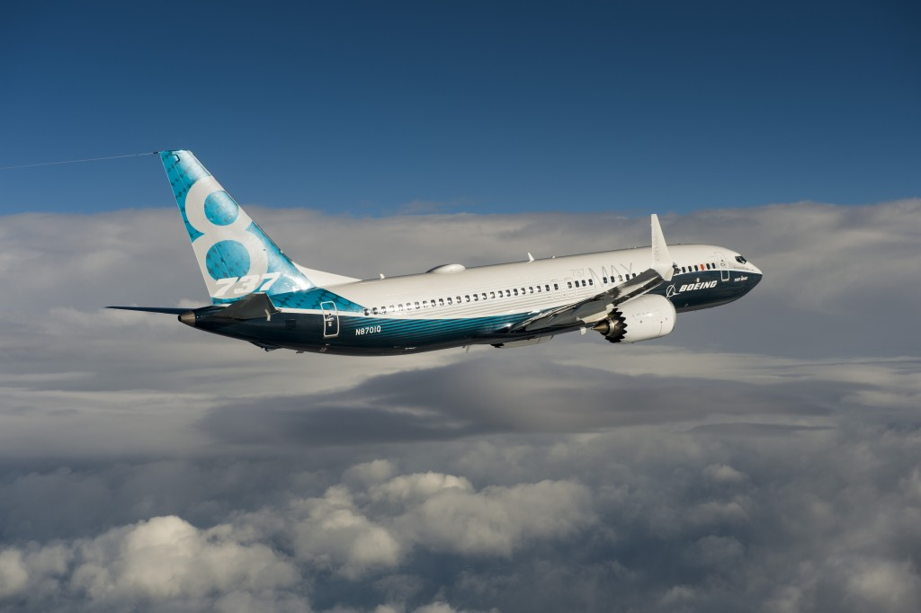 737MAX; 737; Boeing; 737MAX first flight; air to air; K66500-05